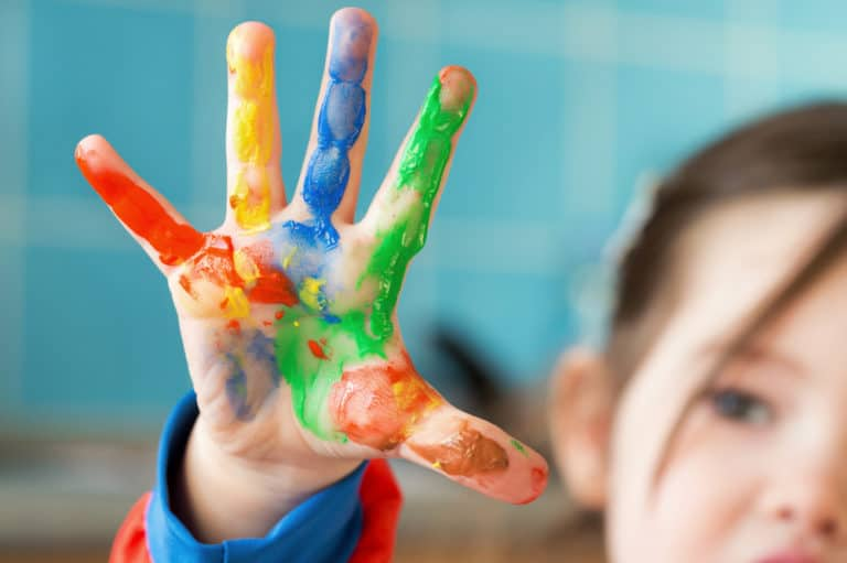 How to Make Paint for Toddlers with 10 Household Items or Less